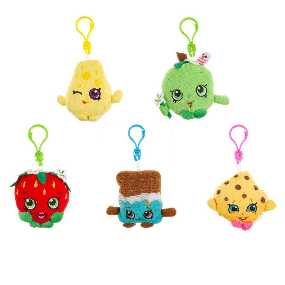 Shopkins Season 1 Plush Hanger Figure Playset Of 5 Toys by Shopkins