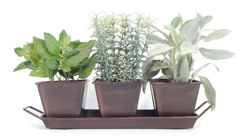 Nice Amazon.com : Kitchen Herb Garden (Chocolate)   3 Metal Containers W Tray, 5  Herb Packets, Soil, Labels U0026 Directions : Garden U0026 Outdoor