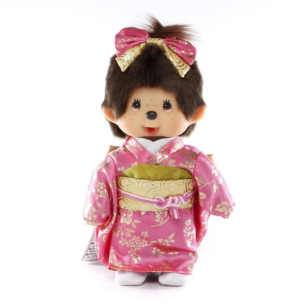 "Monchhichi Original Sekiguchi 8"" Tall Girl in Japanese Outfit"