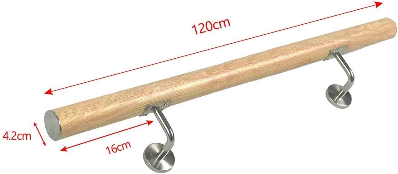 parapet ext/érieur AUFUN Main Courante en acier inoxydable 150cm poli Rampe garde-corps avec vis en m/étal pour main courante balcon int/érieur