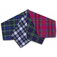 12 Pack Mens/Gentlemens Check Tartan Printed Handkerchiefs 100% Cotton Assorted Colours