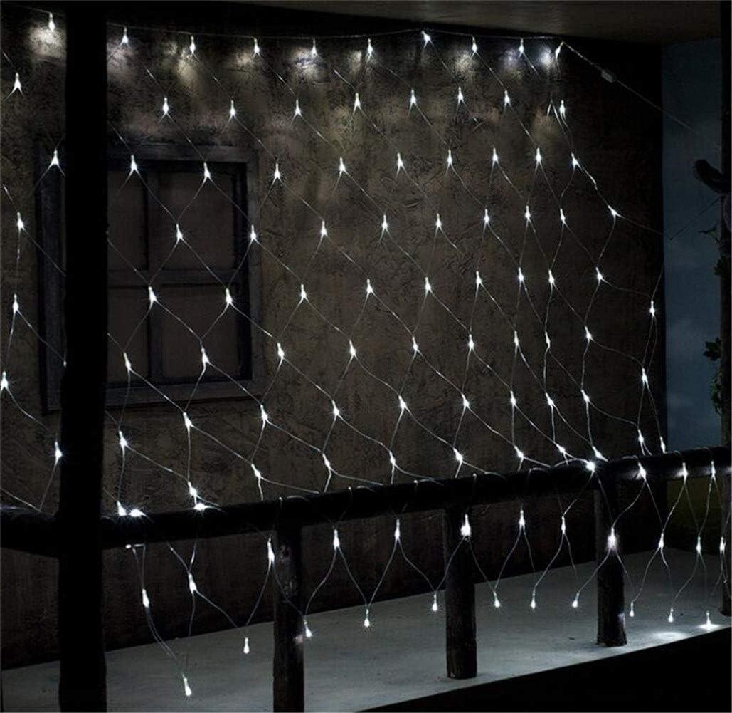 LED Net Lichter, 880 LEDs 19ft X 13ft 8 Arten Blitzen-Schnur-Baum-wrap-Fee-String Weihnachtsbeleuchtung, Kindergarten Familie Vorhang Hochzeit Dekoration Lampen (Color : Red) Blue