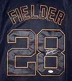 Prince Fielder Detroit Tigers Signed Autographed Alternate Black #28 Jersey JSA COA