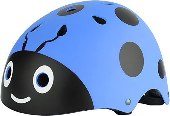 dPois Casco de Bici Niño Protección Seguridad Mariquita Escarabajo Unisex Casco Infantil Mono Ajustable Dibujo Animado para Ciclismo Patinaje Sobre Ruedas Bicicleta para Niños Azul One_Size: Amazon.es: Ropa y accesorios