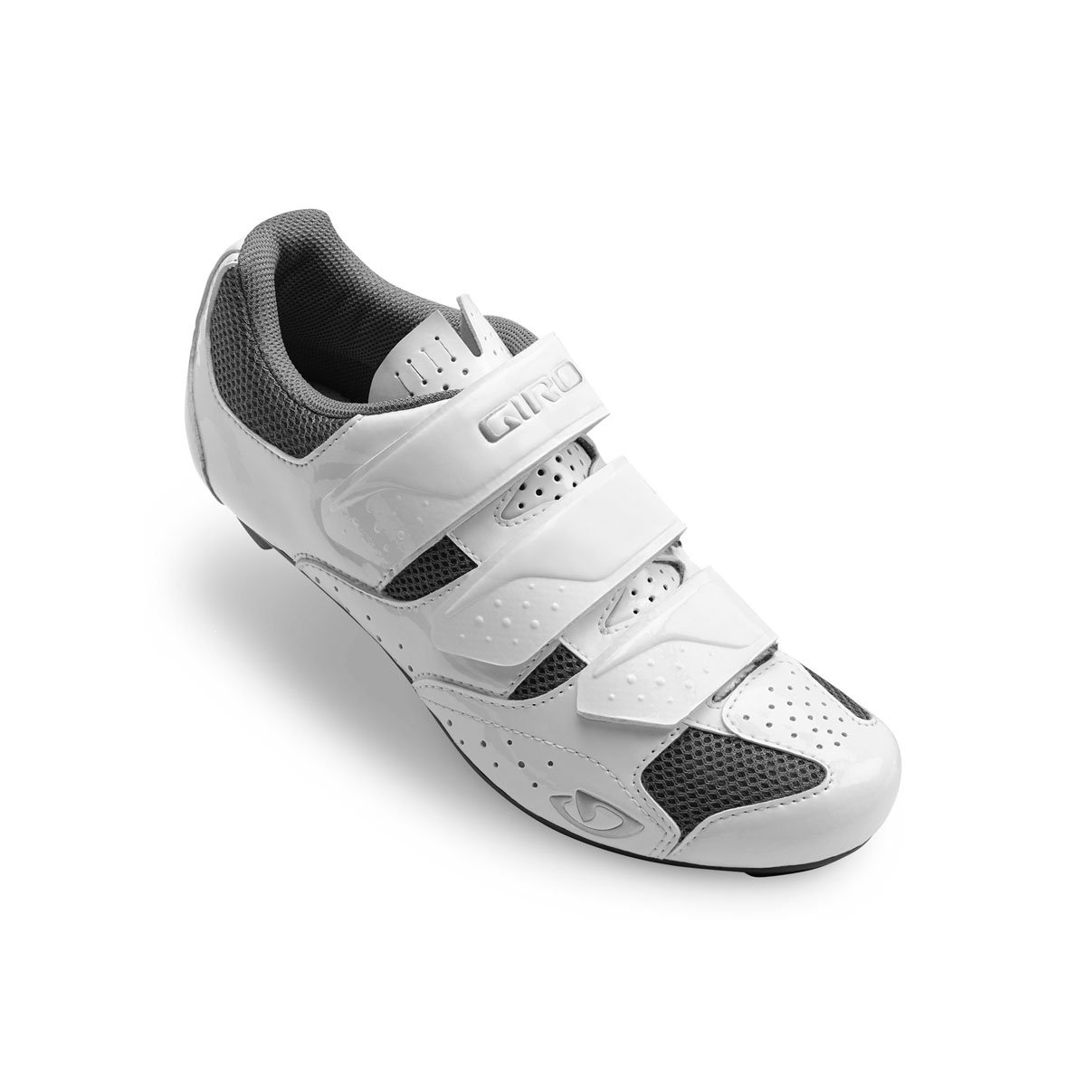 Giro Techne Road, Zapatos de Ciclismo de Carretera para Mujer 43 EU|White/Silver