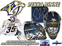 PEKKA RINNE Signed NASHVILLE PREDATORS Full Size GOALIE MASK w/COA #2 - Autographed NHL Helmets and Masks
