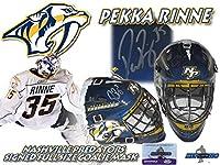 PEKKA RINNE Signed NASHVILLE PREDATORS Full Size GOALIE MASK w/COA #2 - Autographed NHL Helmets and Masks