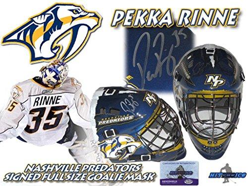 PEKKA RINNE Signed NASHVILLE PREDATORS Full Size GOALIE MASK w/COA #2 - Autographed NHL Helmets and (Signed Goalie Mask)