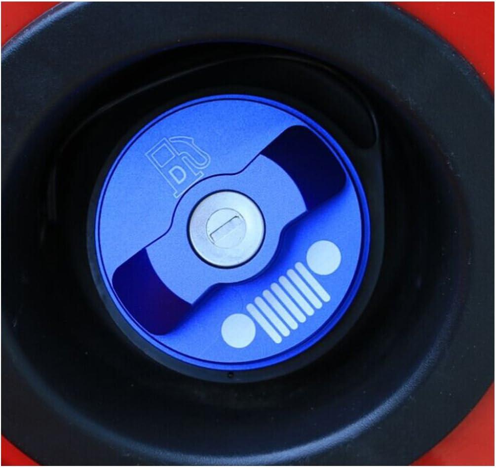JC SPORTLINE Jcsportline Aluminium Blue Gas Fuel Cap Inner Door Cover fits Jeep Wrangler 2007-2016
