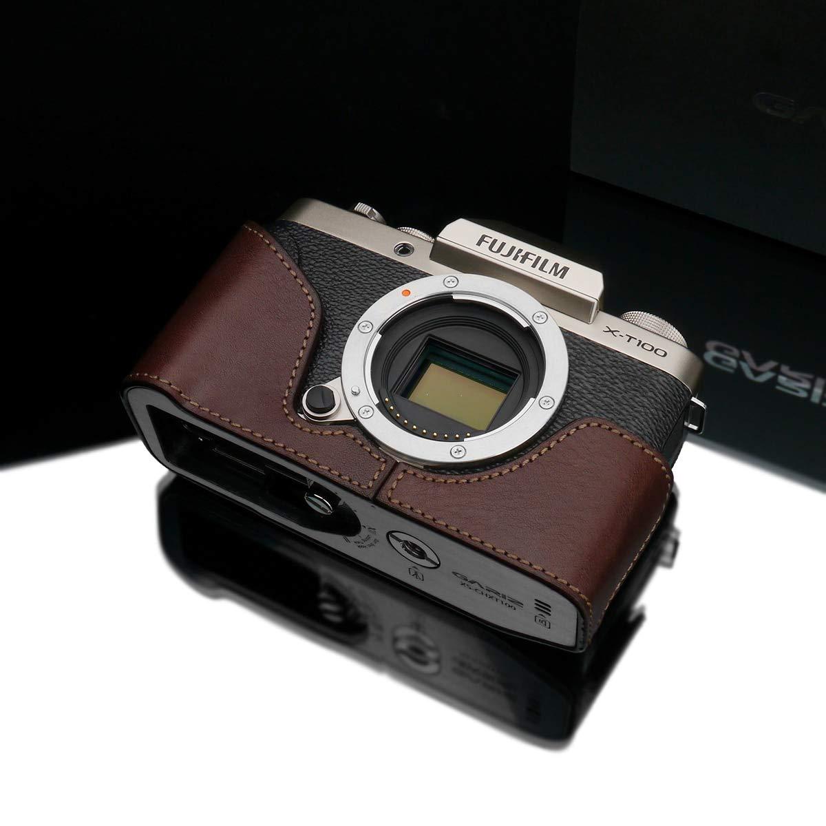 Gariz XS-CHXT100BR 本革ハーフケース Fuji X-T100用 ブラウン   B07GJ6JM21