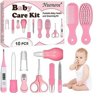 Set Para Cuidado Del Bebé, Bebé Kit de Cuidado Diario, Kit de Cuidado del Bebé, 10 Piezas Conveniente Bebé Kit de Aseo Nail Clipper Tijeras Cepillo de Pelo Peine Manicura: Amazon.es: Bebé