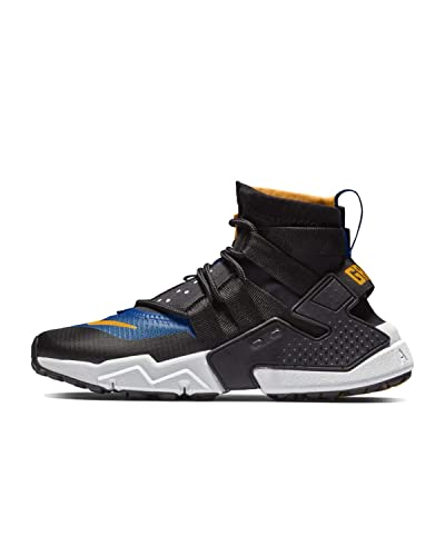 new styles a716d b36ad Amazon.com   Nike Mens Huarache GRIPP Sneakerboot Black Laser Orange Indigo  Force AO1730-006 Size 10   Shoes