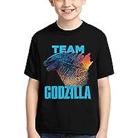 God-Zilla Youth Cotton Shirt Boys Girls Dinosaur King of Monsters 3D Printed Short Sleeves T Shirt Fashion Youth Tee…