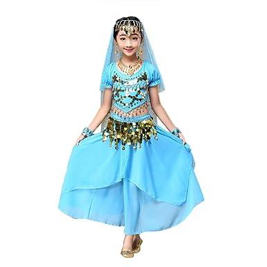 b66ffc7a3a721 Ouneed® Enfant Danse Orientale Costume Ensemble 2pcs Huat + Robe (S Tour de  Poitrine