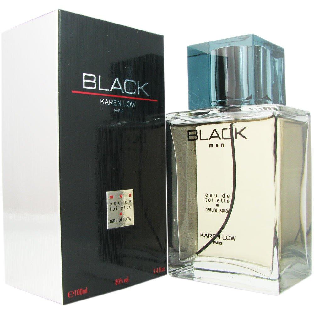 Karen Low Black for Men Eau de Toilette Spray, 100 ml, 3.3 Ounce