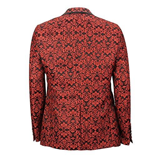 Xposed - Veste de costume - Homme Rouge rouge taille unique