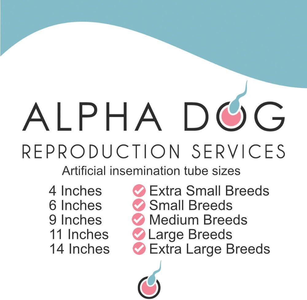 L Breeds - 11 Tube L Breeds - 11 Tube Flex Tip Canine Artificial Insemination Rods Alpha Dog Breeder AI Kits
