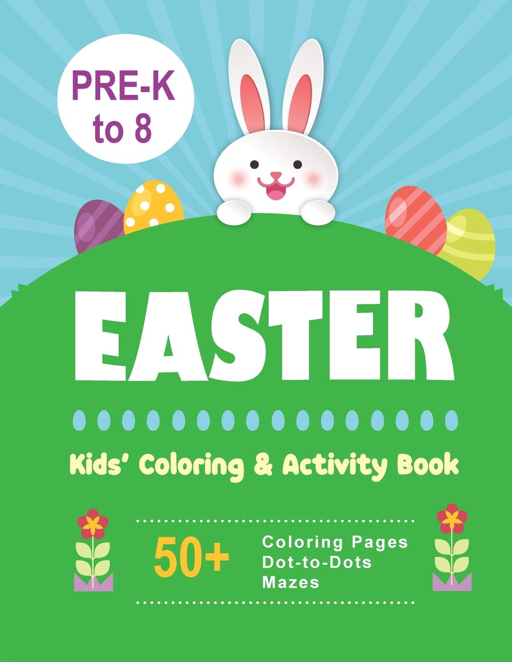 Easter Egg Maze coloring page & book for kids. | 1360x1051