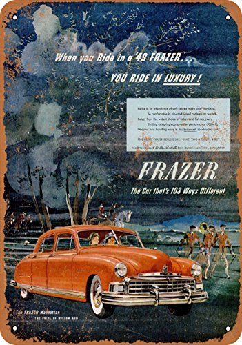 Wall-Color 9 x 12 METAL SIGN - 1949 Frazer Manhattan Automobiles - Vintage Look Reproduction (Frazer Automobile)