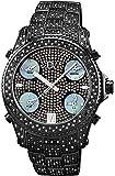"JBW Men's JB-6213-B ""Jet Setter"" Black Ion Five Time Zone Diamond Watch"