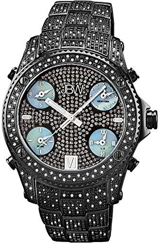 "Jbw Men's Jb-6213-B ""Jet Setter"" Black Ion Five Time Zone Diamond Watch 6"
