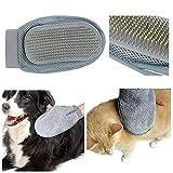 Homegarden Dog & Cat Brush Glove - Gentle Grooming Mitt Your Pet Will Love
