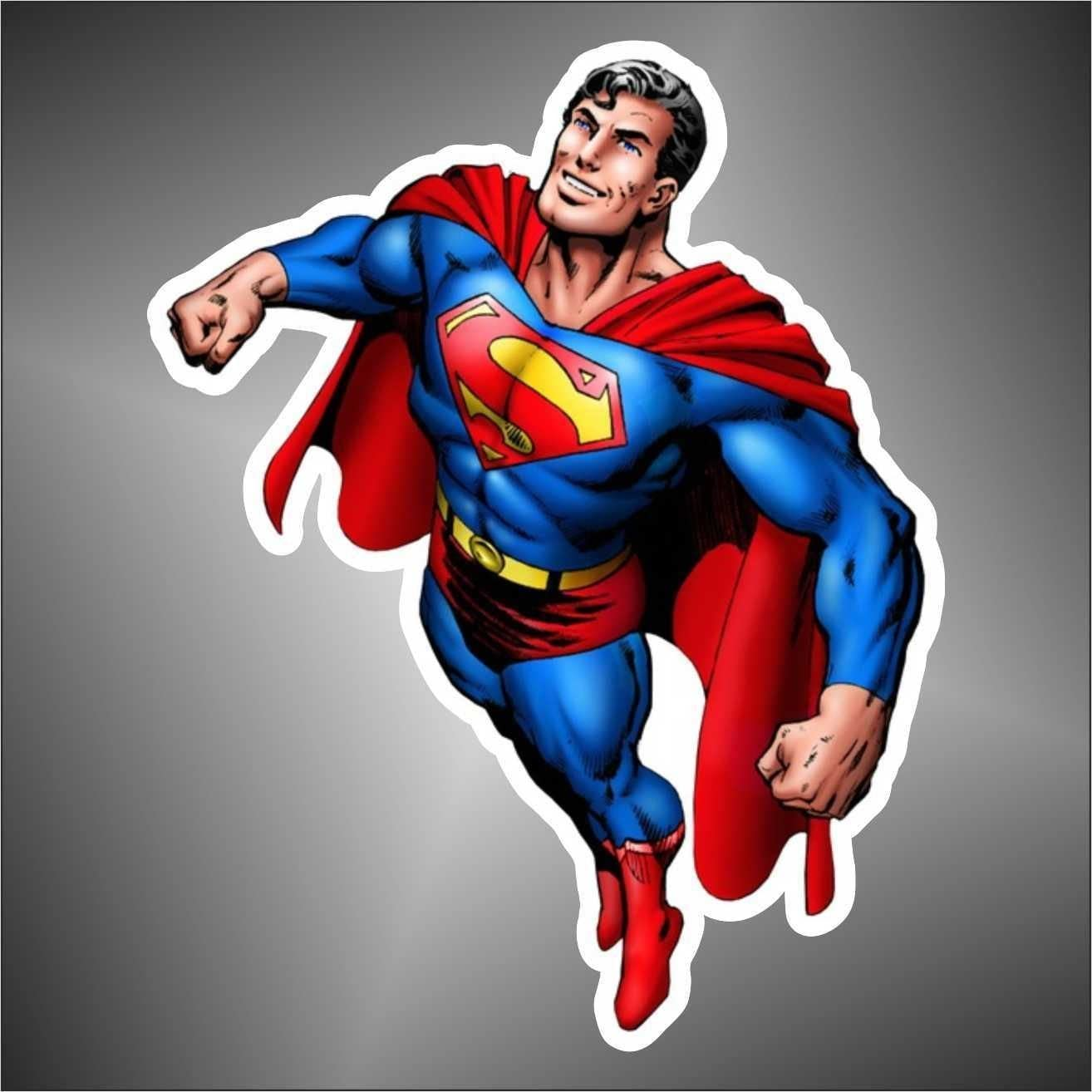 Aufkleber Sticker Superman comics cartoon Zeichentrickfilm sticker