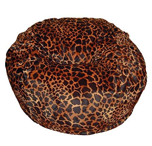 Ahh! Products Bronze Giraffe Animal Print Fur Washable Large Bean Bag Chair