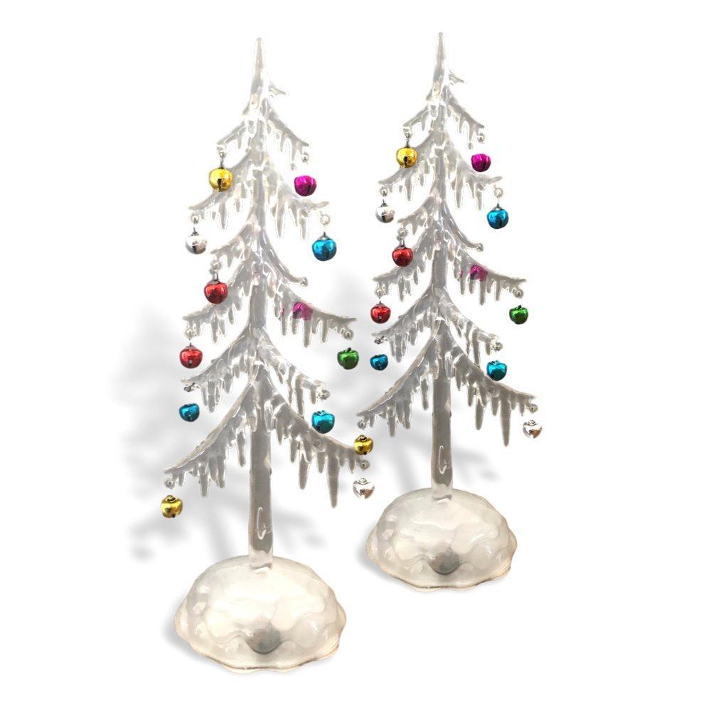 Amazon.com: BANBERRY DESIGNS Light Up Acrylic Trees - Set of 2 LED ...