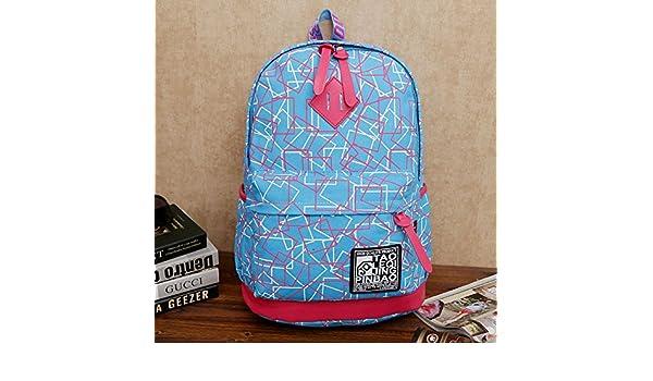 YWZQ Pc Mochilas de lona gruesa de Argyle, los estudiantes de la zona de ocio mochilas escolares Sky Blue: Amazon.es: Equipaje