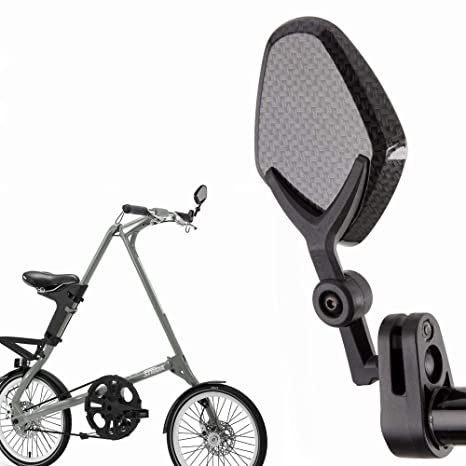 3dcd4be03ce Amazon.com: KiWAV Magazi bar end mirrors Petal carbon for bicycle handlebar  7/8