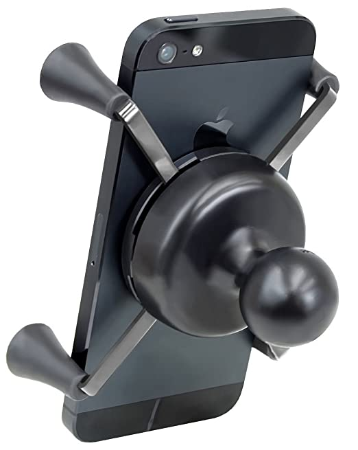 the latest d30b0 892a8 Ram Mount Universal X-Grip IV Large Phone/Phablet Holder with 1-Inch Ball -  Non-Retail Packaging - Black