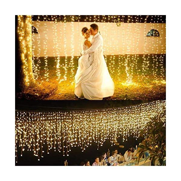 Stringa Luci LED, 2 x 10M Catena Luminosa Batteria Luci Natale 100 LEDs per Natalizie Decorazioni Interno ed Esterno Telecomando 8 Modalità Impermeabile(Giallo Caldo) 5 spesavip
