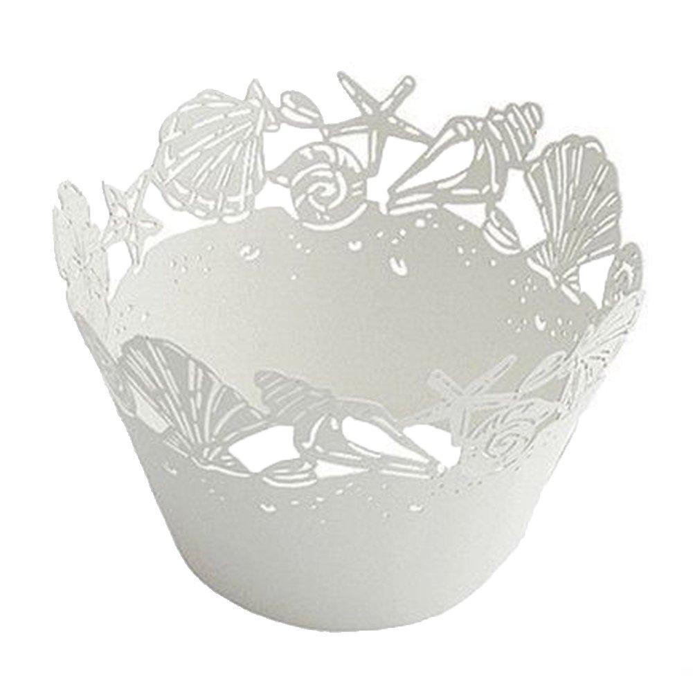 amazon com 48 white beach themed wedding sea shell seashells