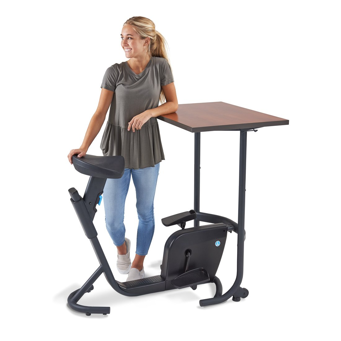 exercise desk cycle foot cardio office under bike pin pedal workout portable fitness