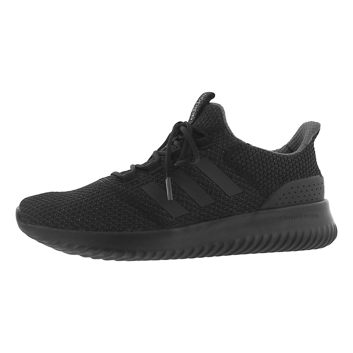 adidas Men's Cloudfoam Ultimate Running Shoe, Black/Black/Utility Black, 11 M US