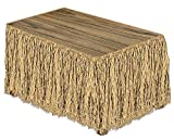 Raffia Table Skirting (natural) Party Accessory  (1 count) (1/Pkg)
