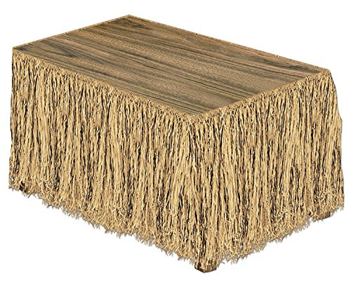 Raffia Table Skirting (natural) Party Accessory  (1 count) (1/Pkg) -