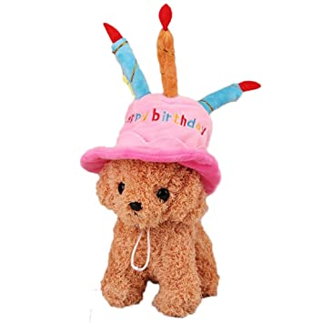 DreamyDesign Birthday Hat Cake Dog Toy New Fashion Pet Cat Party Candle