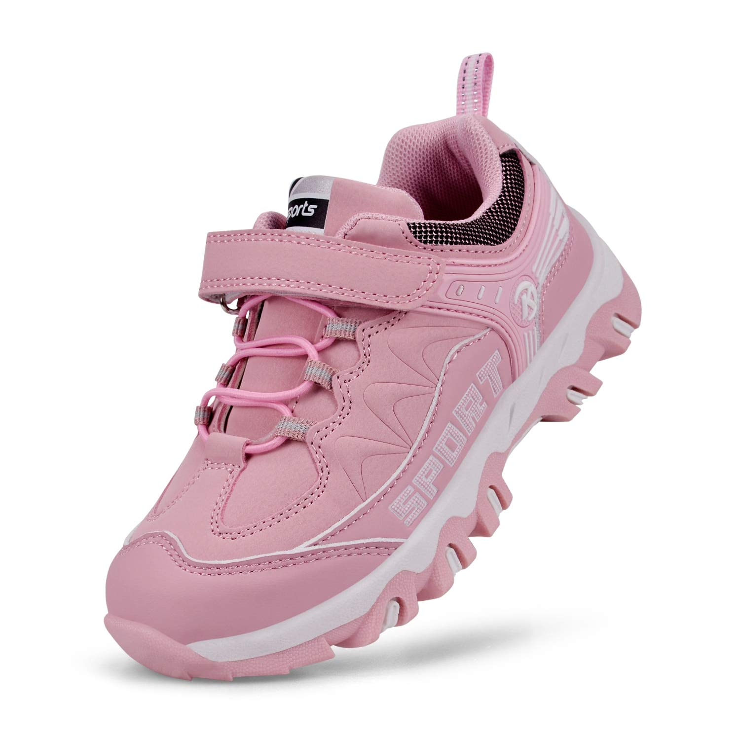 Simasoo Kids Comfortable Casual Sneakers Non-Slip Outdoor Breathable Shoes Pink 13 M US Little Kid
