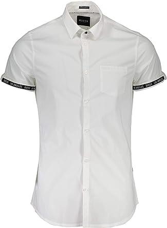 Guess Camisa Hombre XXL Blanco M82H12W8BX0 A000: Amazon.es: Ropa y accesorios