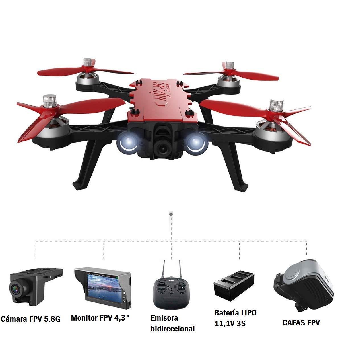 MODELTRONIC Dron de Carreras Brushless MJX Bugs B8 Pro cámara FPV ...