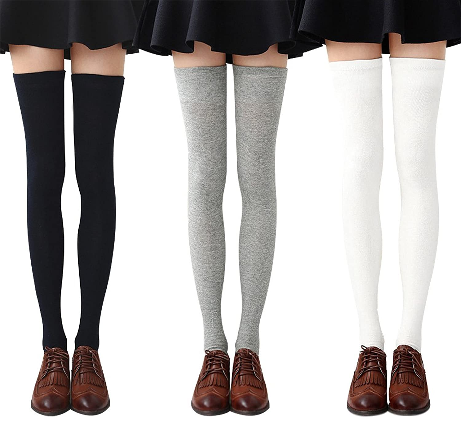 62a2fdca7ff GREAT MATERIAL - Our striped knee high socks are made from soft and  comfortable poly-cotton blends
