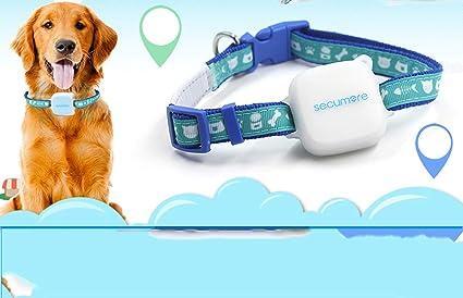 HAO Mascotas Perseguidor de GPS Perro Gato Collar de Gato GPS Localizador de navegación Buscador Localizador