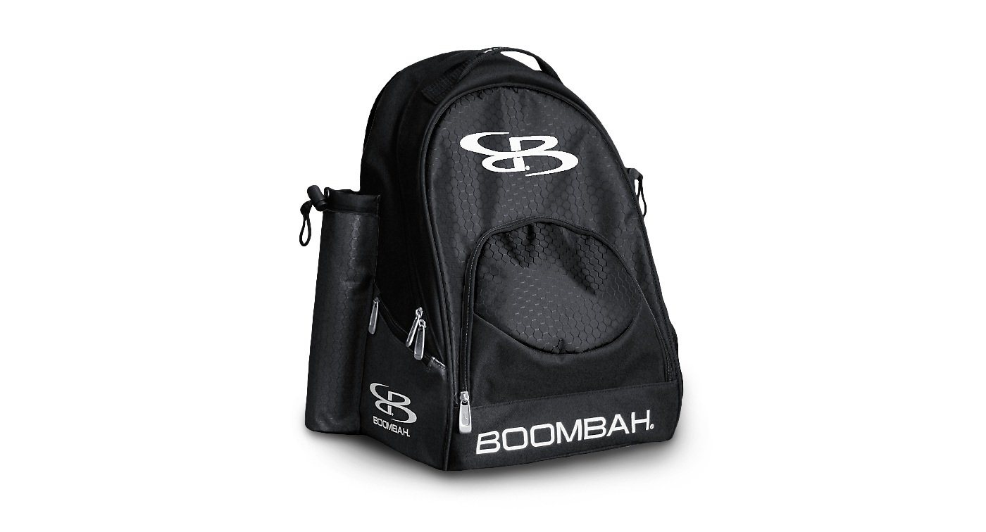 Boombah Tyro Baseball/Softball Bat Backpack - 20'' x 15'' x 10'' - Black - Holds 2 Bats up to Barrel Size of 2-5/8''