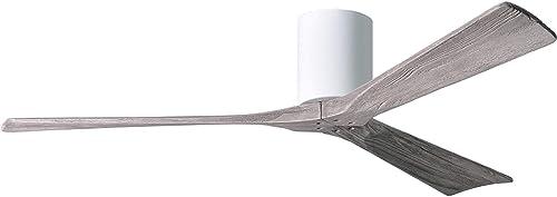 Matthews IR3H-WH-BW-60 Irene 60″ Outdoor Hugger Ceiling Fan