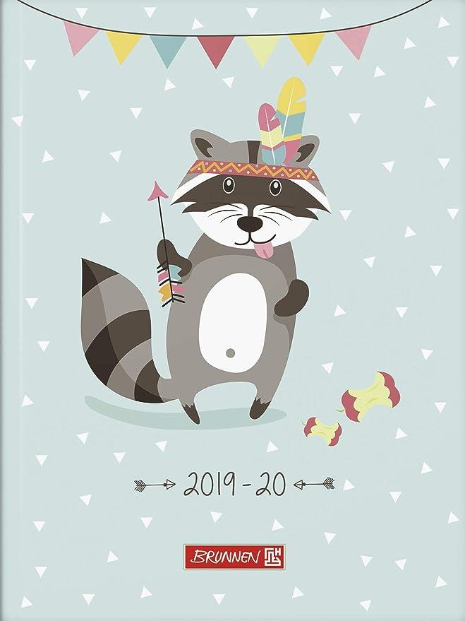 Schülerkalender Kalender 2018-2019 Eule A6 BRUNNEN 1072911039
