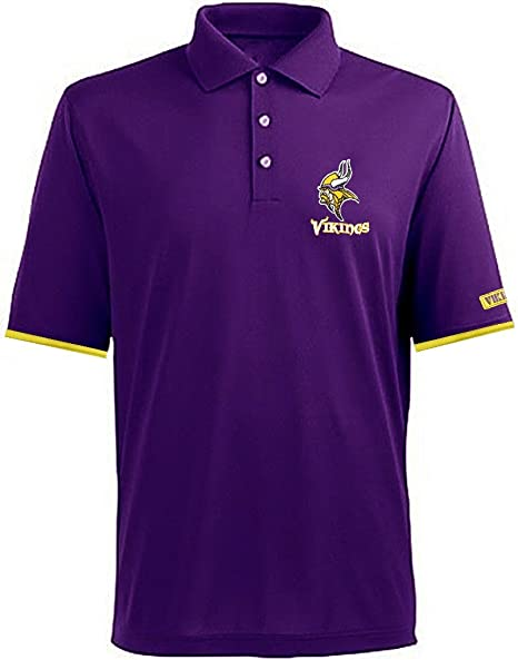 4865829f Minnesota Vikings NFL Mens Team Apparel Cotton Polo Golf Shirt Purple Big &  Tall Sizes (
