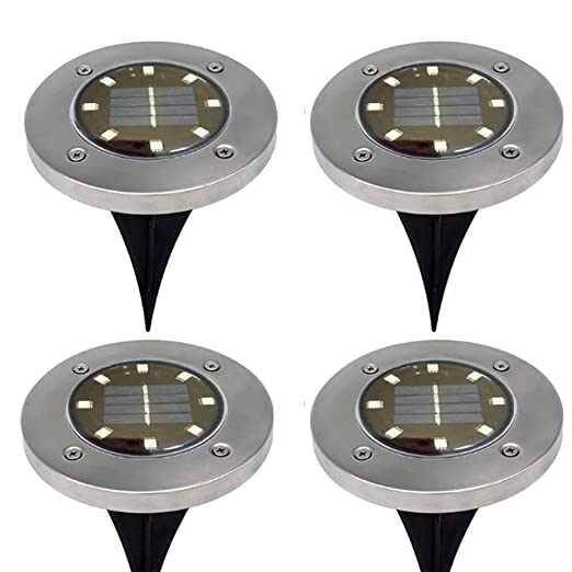 Led Solar Lamp Underground Lamp Ip67 Light Control Outdoor Decking Ground Garden Path Floor Yard Spot Landscape Buried Light Led Lamps