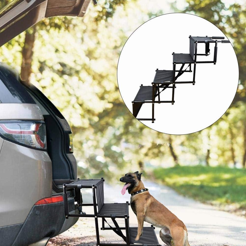 Scala per gradini per Cani Portatile Rampa Pieghevole per Scala per Animali Domestici per Camion SUV Scala per Cani a 4 Strati per Auto 95x80x49 cm 37,40 31,50 19,29 Pollici